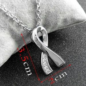 Jewelry - NWOT Cancer Cremation Ribbon Necklace